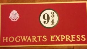 Hogwarts Express Sign Finished