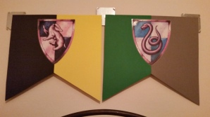Hufflepuff and Slytherin Banners