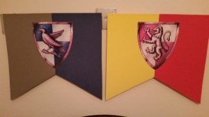 Ravenclaw and Gryffindor Banners